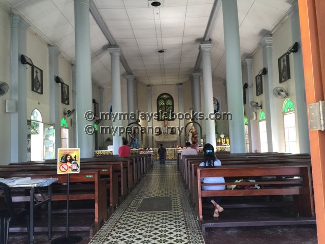 Inside the Shrine of St. Anne, BM, Malaysia