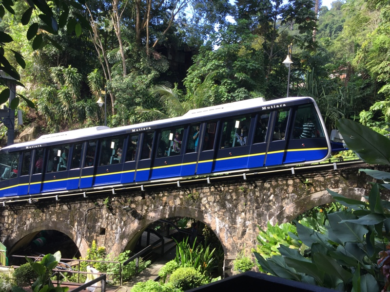 funicular train of Penang Hill